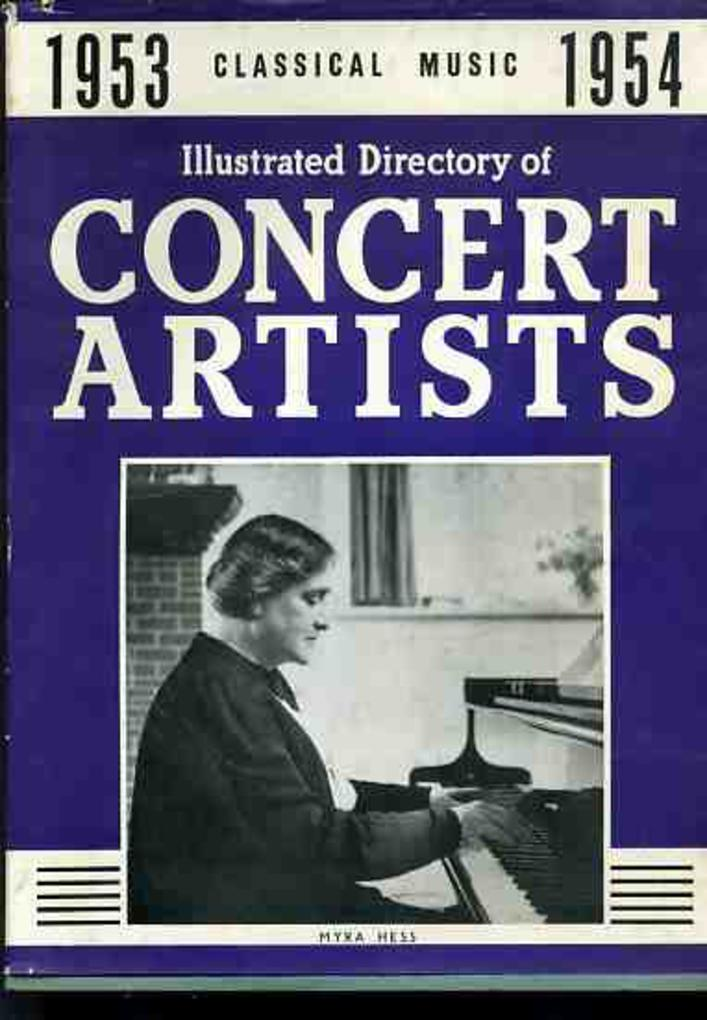 Image for Illustrated Directory of Concert Artists 1953-54