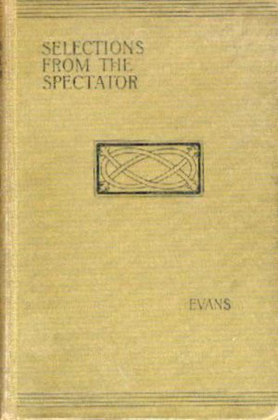 Image for Selections from The Spectator
