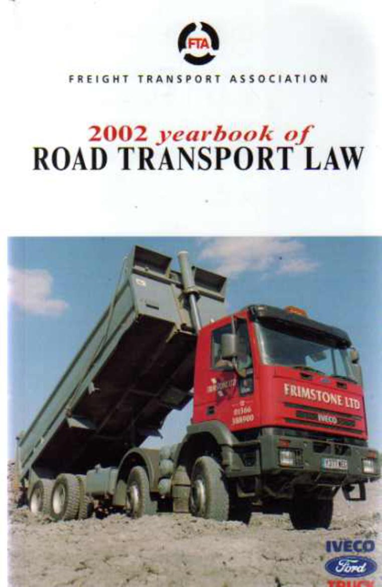 Image for 2002 Yearbook of Road Transport Law