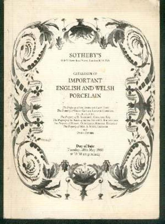 Image for Catalogue of Important English and Welsh Porcelain