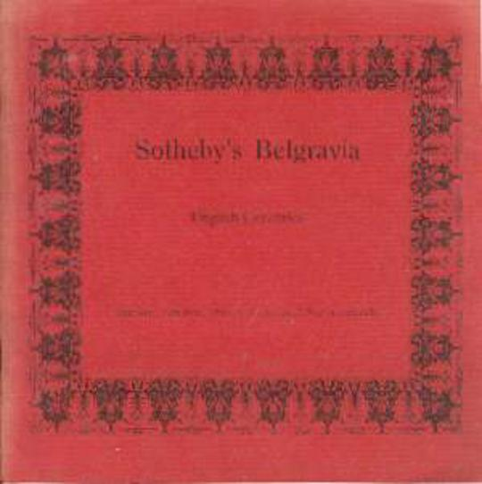 Image for Sotheby's Belgravia English Ceramics