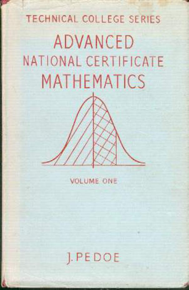 Image for Advanced National Certificate Mathematics, Volume 1