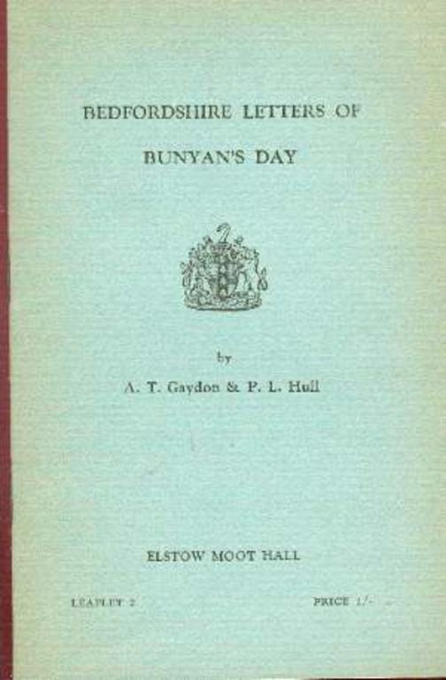 Image for Bedfordshire Letters of Bunyan's Day