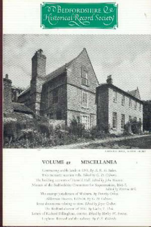 Image for Volume 49 Miscellanea - Bedfordshire Historical Record Society