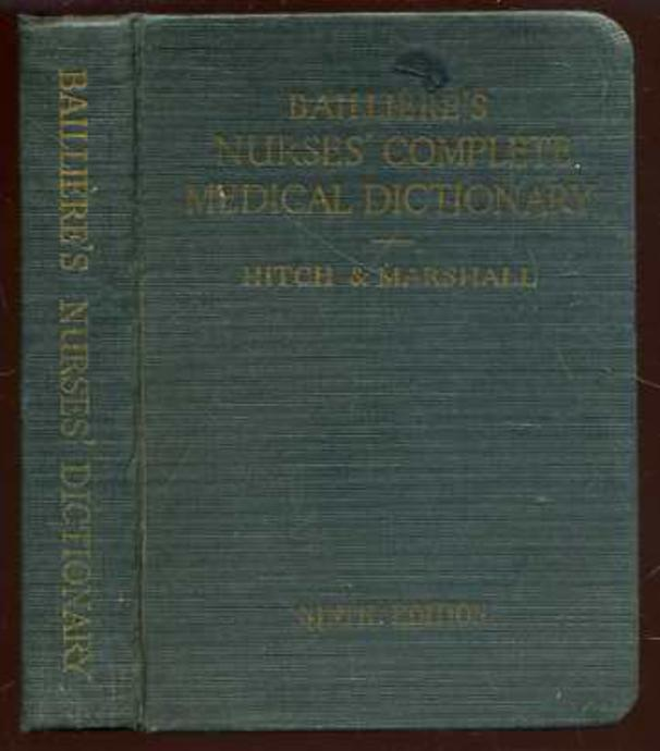 Image for Bailliere's Nurses' Complete Medical Dictionary