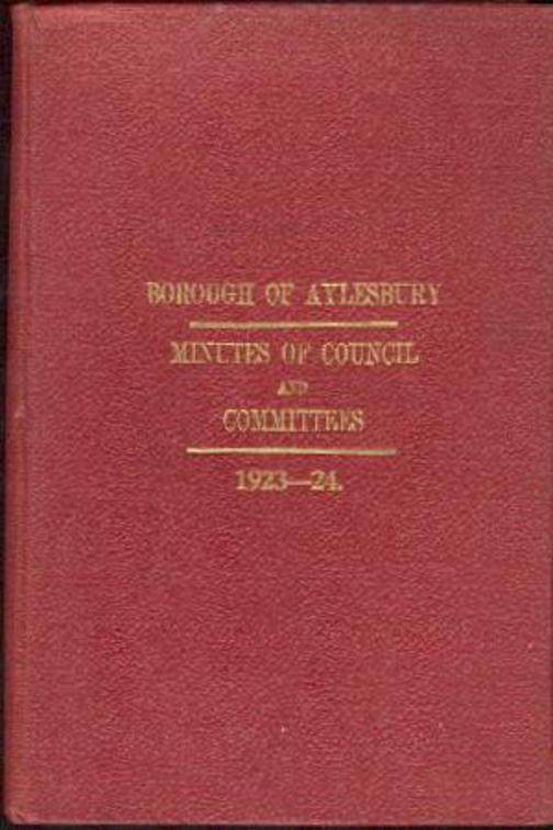 Image for Minutes of Council and Committees from 1st Nov 1923 to 31st Oct 1924