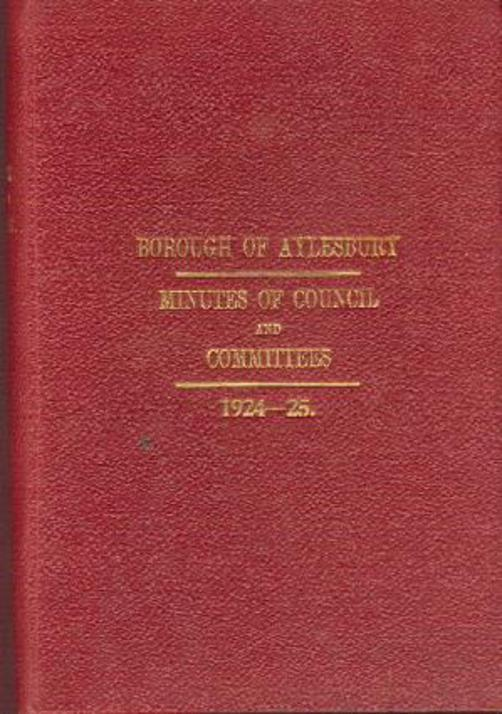 Image for Minutes of Council and Committees from 1st Nov 1924 to 31st Oct 1925