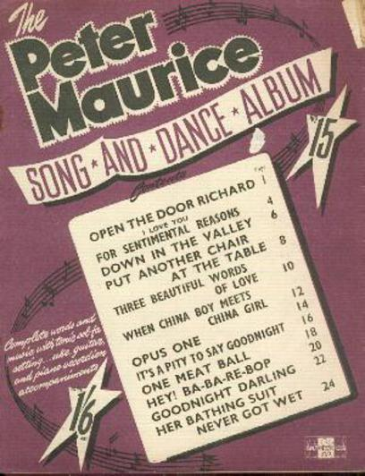 Image for The Peter Maurice Song and Dance Album