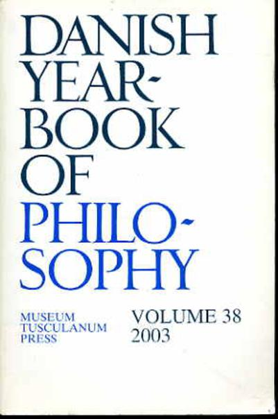 Image for Danish Yearbook of Philosophy Volume 38  2003