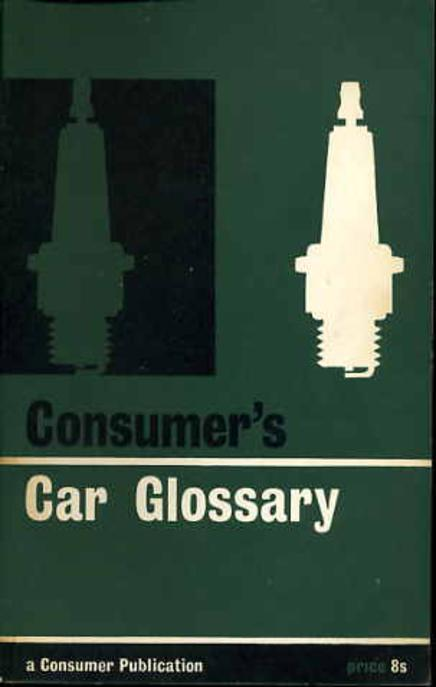 Image for Consumer's Car Glossary