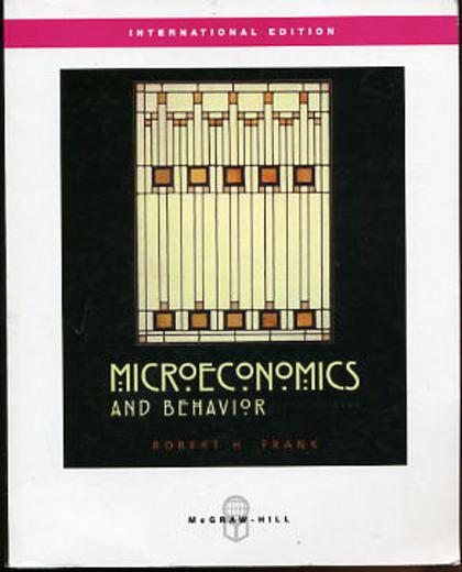 Image for Microeconomics and Behavior