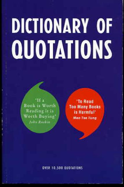 Image for Dictionary of Quotations