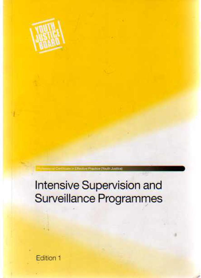 Image for Intensive Supervision and Surveillance Programmes - Edition 1