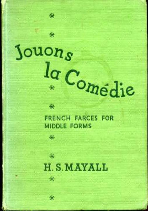 Image for Jouons La Comedie - French Farces for Middle Forms