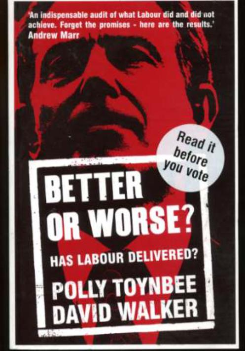 Image for Better or Worse? Has Labour Delivered?