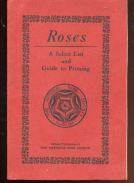 Image for Roses : A Select List and Guide to Pruning