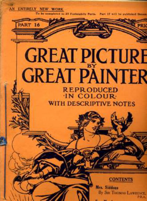 Image for Great Pictures By Great Painters Reproduced in Colour with Descriptive Notes - Part 16