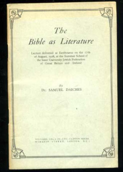 Image for The Bible as Literature