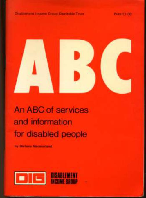 Image for An ABC of Services and Information for Disabled People