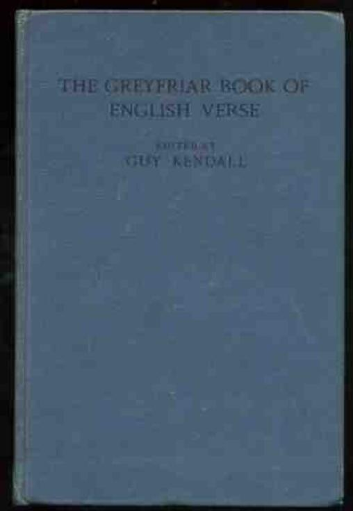 Image for The Greyfriar Book of English Verse