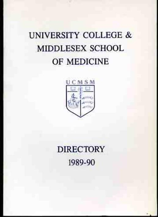 Image for University College & Middlesex School of Medicine Directory 1989/90