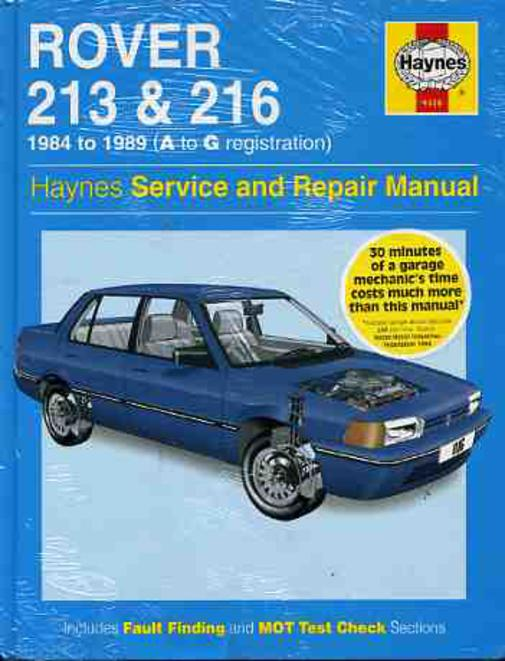 Image for Rover 213 and 216 1984-89 Service and Repair Manual