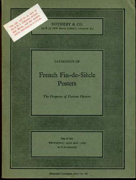 Image for Catalogue of French Fin-de-Siecle Posters