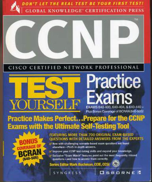 Image for CCNP Cisco Certified Network Professional Test Yourself Practice Exams