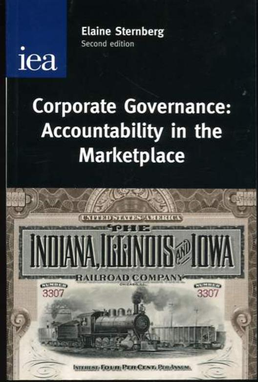 Image for Corporate Governance: Accountability in the Marketplace