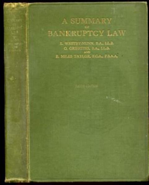 Image for A Summary of Bankruptcy Law