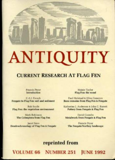 Image for Antiquity - Current Research at Flag Fen Reprinted from Volume 66 Number 251 June 1992