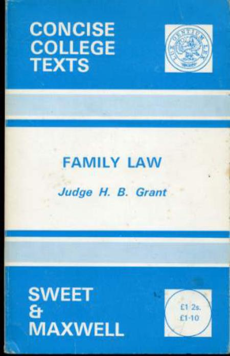 Image for Family Law (Concise College Texts) (SIGNED COPY)