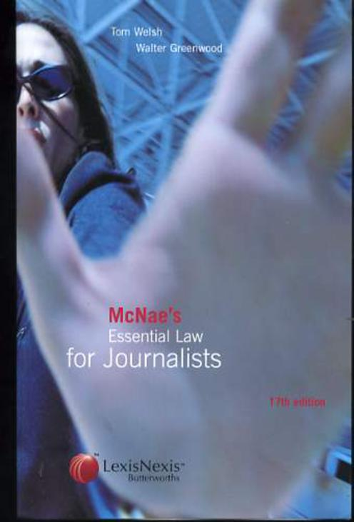 Image for McNae's Essential Law for Journalists