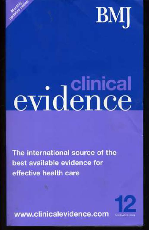 Image for Clinical Evidence 12 December 2004