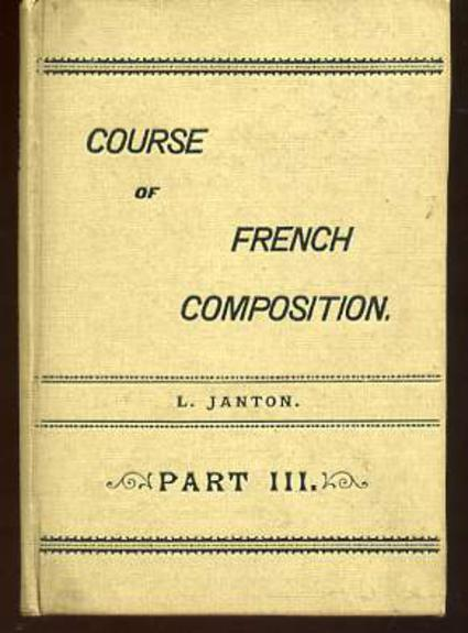 Image for Course of French Composition Part III