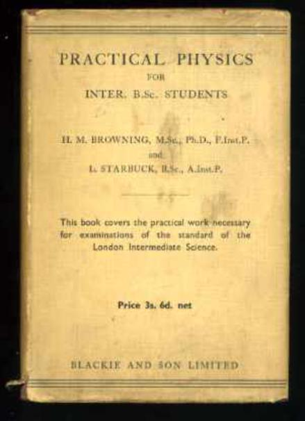 Image for Practical Physics Inter. B.Sc. Students