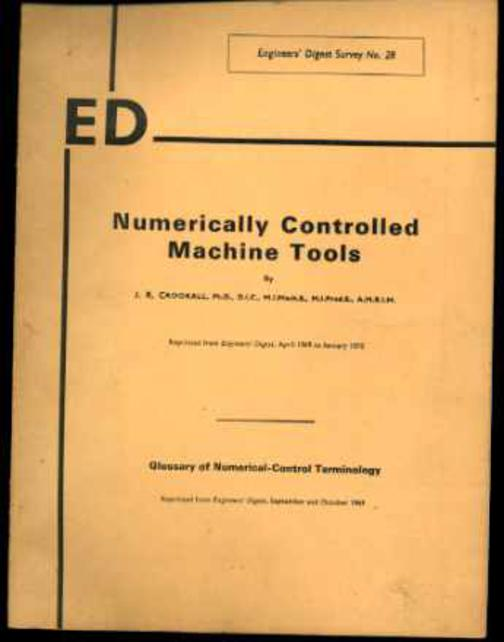Image for Numerically Controlled Machine Tools