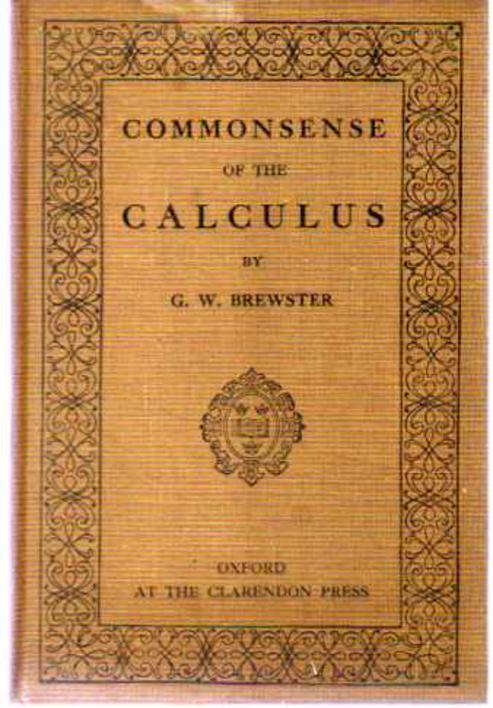 Image for Commonsense of the Calculus