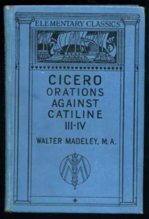 Image for Cicero's Orations Against Catiline III-IV