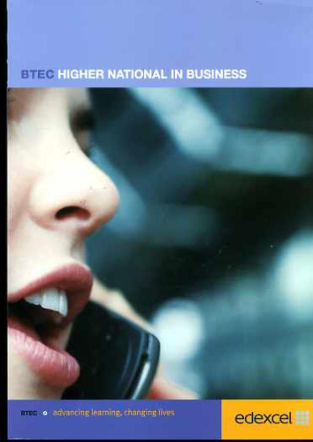 Image for Higher National in Business