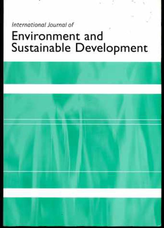 Image for International Journal of Environment and Sustainable Development Volume 4 No 4 2005
