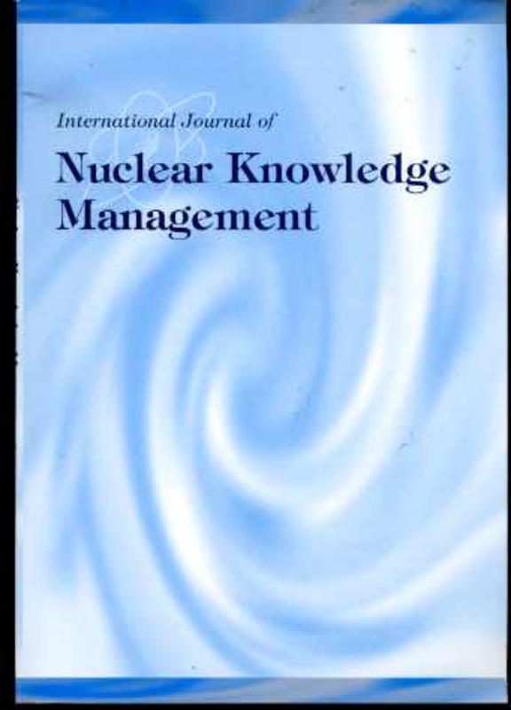 Image for International Journal of Nuclear Knowledge Management Volume 1,  No.3 2005