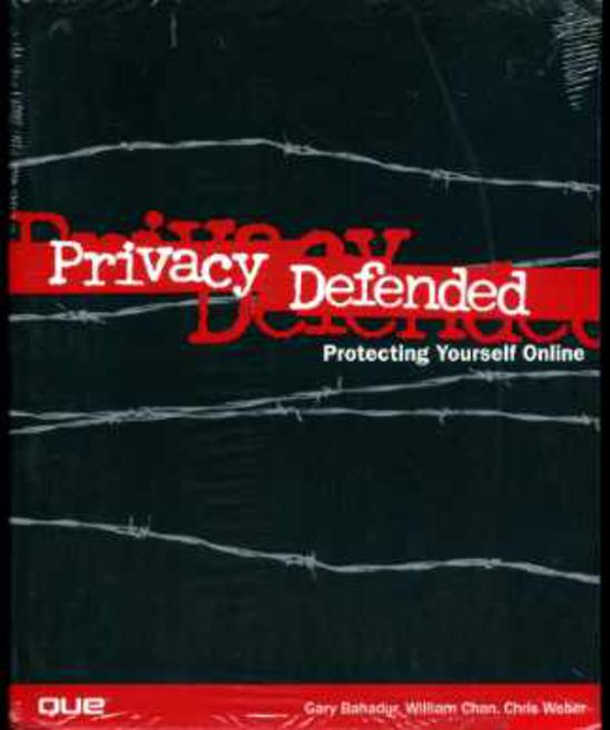Image for Privacy Defended: How to Protect Your Privacy and Secure Your PC