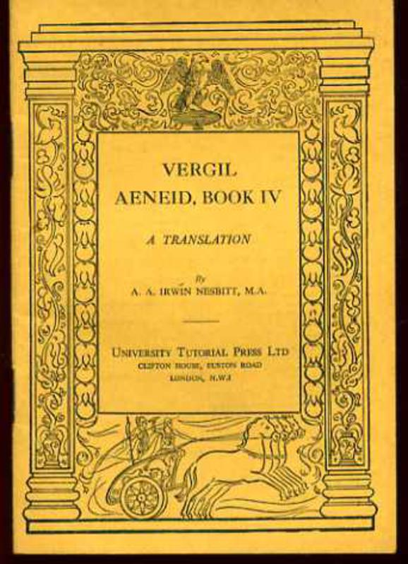 Image for Aeneid, Book IV