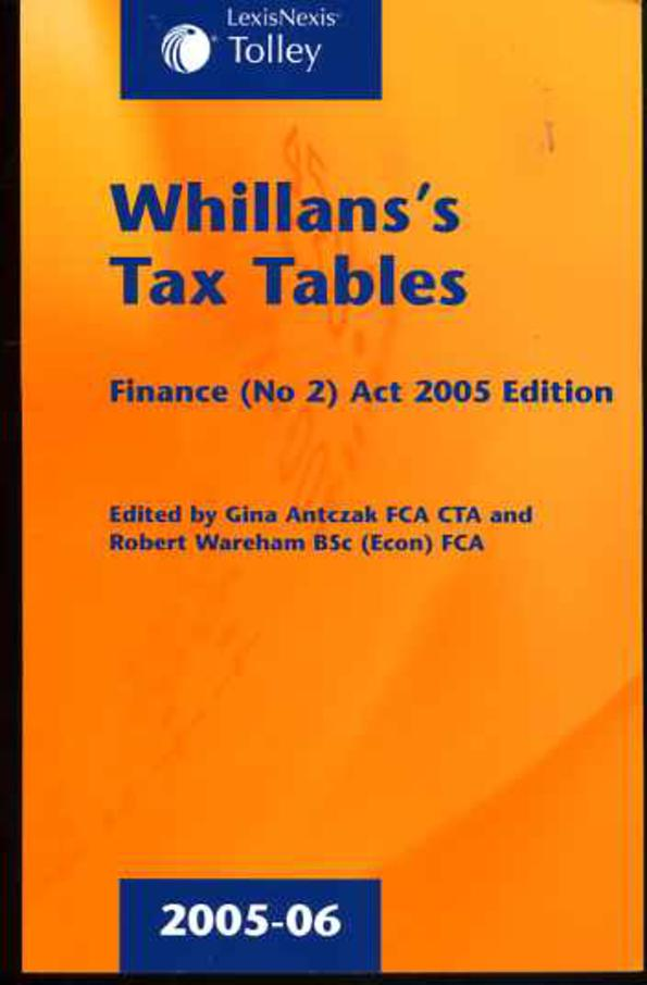 Image for Whillans's Tax Tables 2005-06