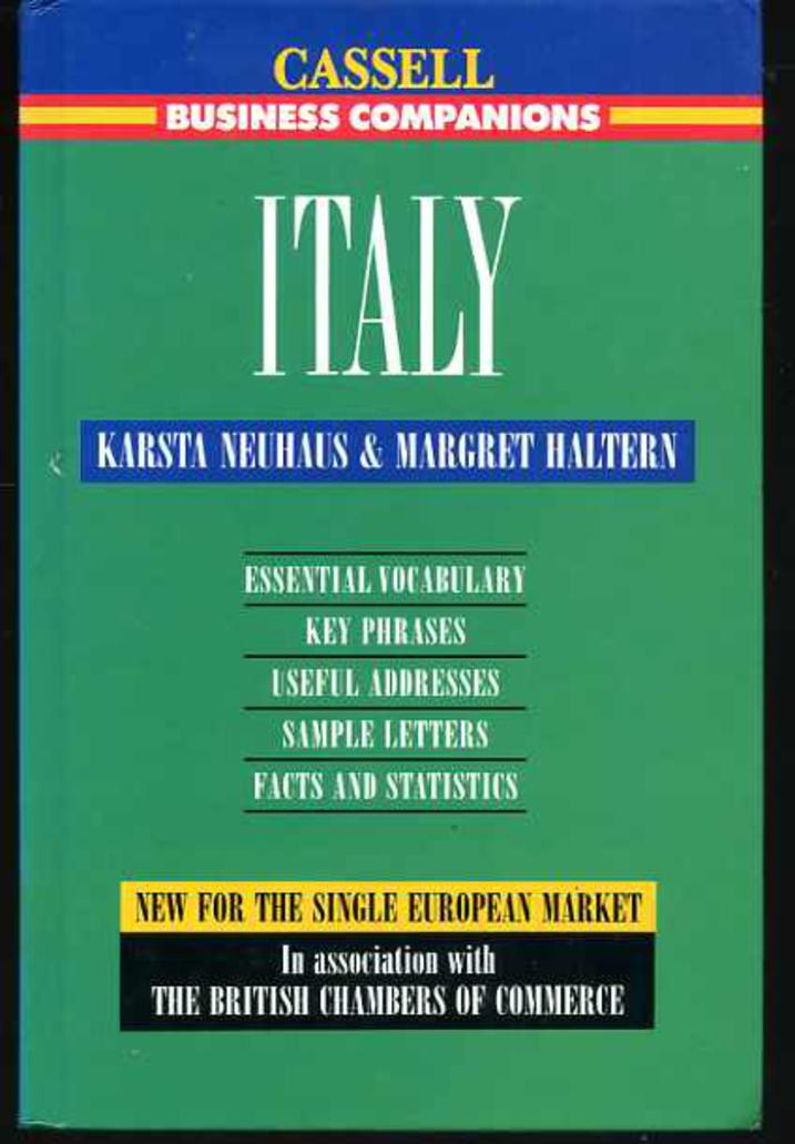Image for Italy (Cassell Business Companion)