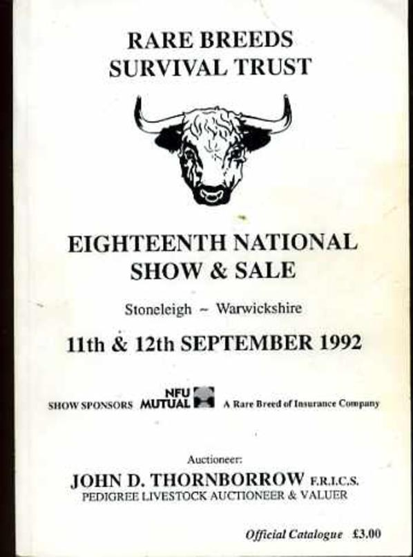 Image for The Rare Breeds Survival Trust Eighteenth National Show and Sale