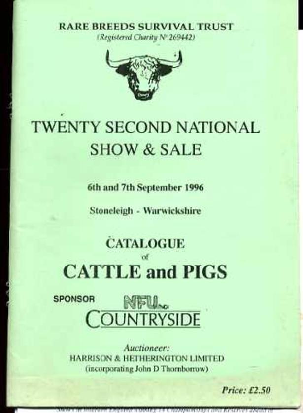 Image for The Rare Breeds Survival Trust Twenty Second National Show and Sale