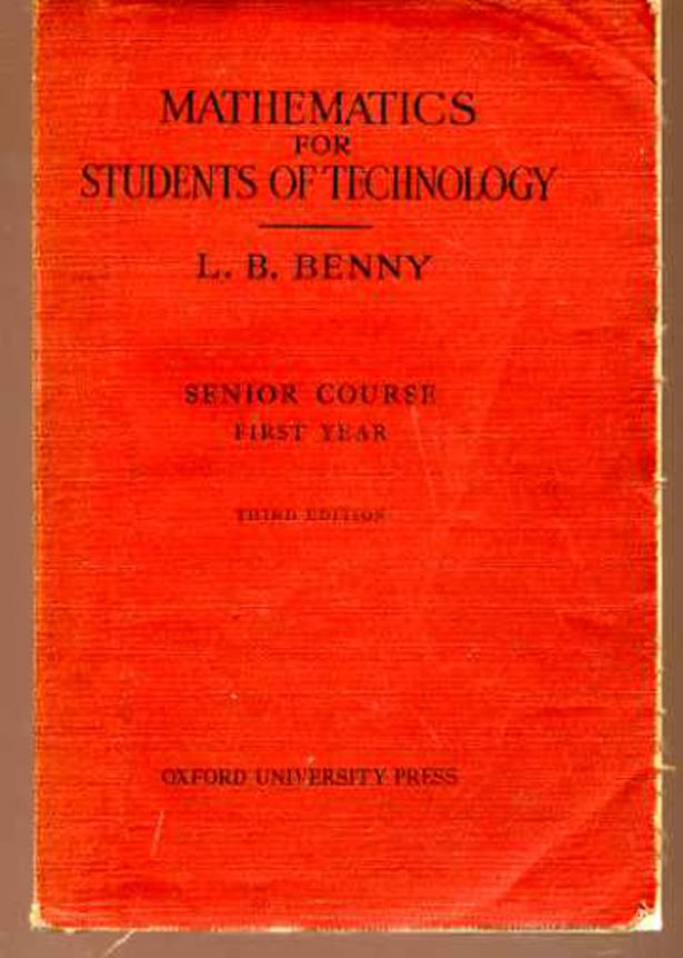 Image for Mathematics for Students of Technology : Senior Course Part I