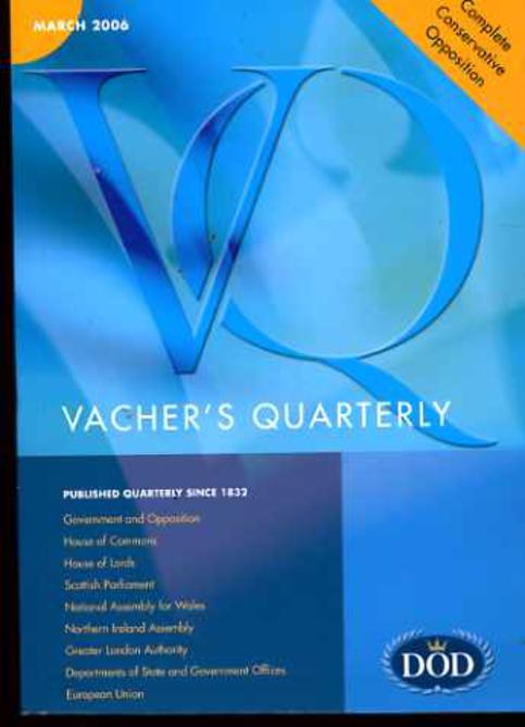 Image for Vacher's Quarterly : March 2006